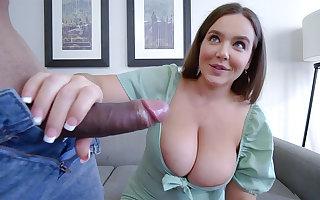 Huge-Boobed stepmother let step-sonny poke her moist cooter
